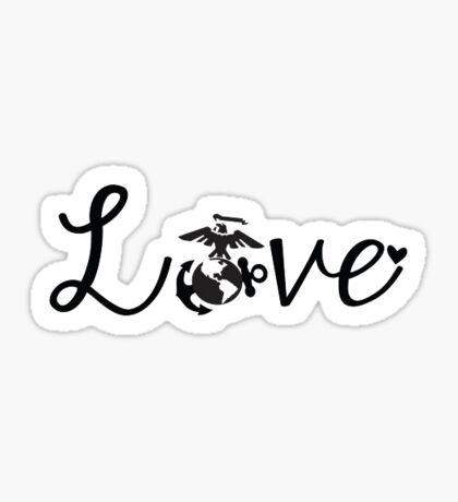 Marine Love Sticker