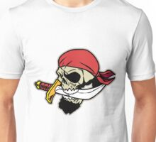 Pirate Skull With Dagger Unisex T-Shirt