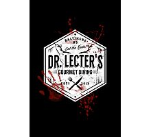 Dr Lecter's Gourmet Dining - White Version Photographic Print