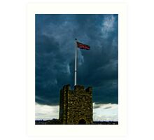 A storm brewing over the Empire Art Print