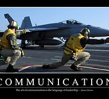 Communication: Inspirational Quote and Motivational Poster by StocktrekImages