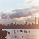 east river sunset by sleepyarmadillo