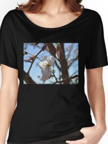 Baby Pink Cherry Blossoms Women's Relaxed Fit T-Shirt
