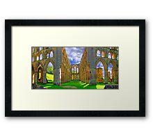 Rievaulx Abbey - Panorama - HDR  Framed Print