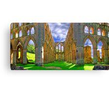 Rievaulx Abbey - Panorama - HDR  Canvas Print