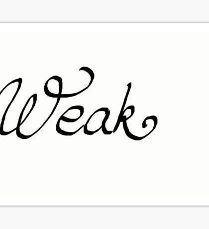Weak Sticker