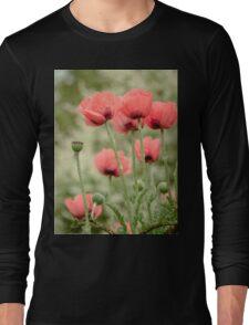 Oriental poppies patterns Long Sleeve T-Shirt