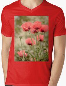 Oriental poppies patterns Mens V-Neck T-Shirt