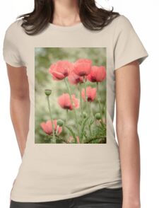 Oriental poppies patterns Womens Fitted T-Shirt