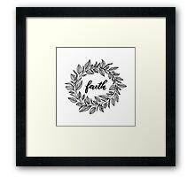 Faith Wreath Black Framed Print
