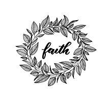 Faith Wreath Black Photographic Print