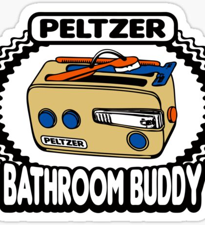 Peltzer Bathroom Buddy Sticker