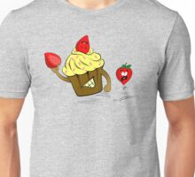 Cupcake Killer & Strawberries Unisex T-Shirt