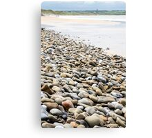 pebbled beach beside the links golf course Canvas Print