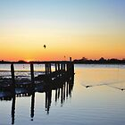 The Harbour From Bosham Sailing Club at Sunset #2 by Matthew Floyd