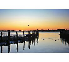 The Harbour From Bosham Sailing Club at Sunset #2 Photographic Print