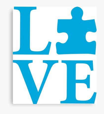 Love Autism Puzzle Canvas Print