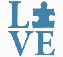 Love Autism Puzzle Kids Tee