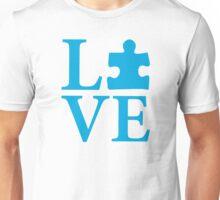 Love Autism Puzzle Unisex T-Shirt
