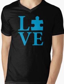Love Autism Puzzle Mens V-Neck T-Shirt
