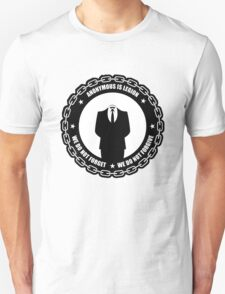 We do not forgive we do not forget T-Shirt