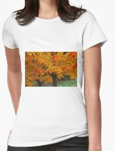 Colorful Maple tree Womens Fitted T-Shirt
