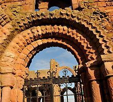 Lindisfarne Priory by Pete  Burton