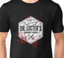 Dr Lecter's Gourmet Dining - White Version Unisex T-Shirt