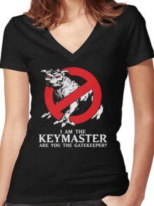 I Am The Keymaster Women's Fitted V-Neck T-Shirt