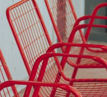 Red Chairs Sticker