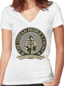 Judean Peoples Front Women's Fitted V-Neck T-Shirt