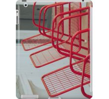Red Chairs iPad Case/Skin