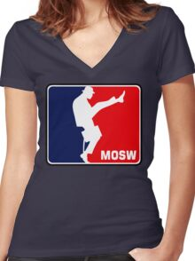 The Ministry Of Silly Walks Women's Fitted V-Neck T-Shirt