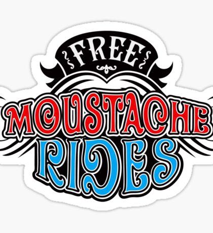 Free Moustache Rides Sticker