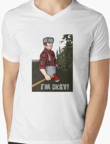 I'm Okay! Mens V-Neck T-Shirt