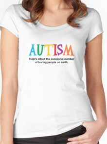 Autism is not boring Women's Fitted Scoop T-Shirt