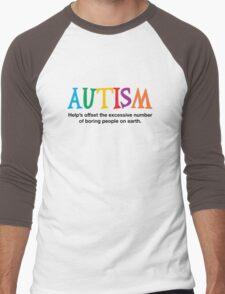 Autism is not boring Men's Baseball ¾ T-Shirt