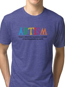 Autism is not boring Tri-blend T-Shirt