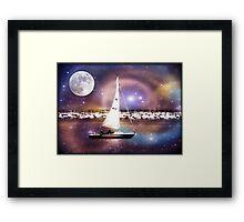 Moonlight sailing © Framed Print