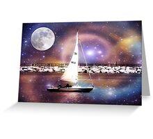 Moonlight sailing © Greeting Card
