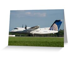 N364PH Continental Connection Dash 8-202 Greeting Card