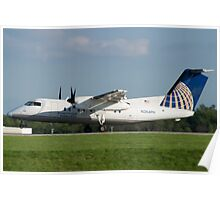 N364PH Continental Connection Dash 8-202 Poster