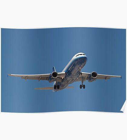 N417UA United A320-232 KLAS Poster