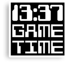 13:37 Game Time Canvas Print