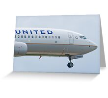 Nose Shot N76528 United Boeing 737-824 Approach Greeting Card