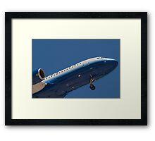 Nose Shot N417UA United Airlines Framed Print