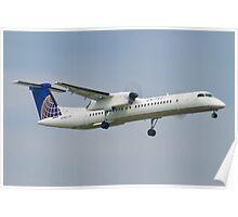 United Express N34NG DHC-8-402Q Poster
