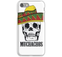 Mexican Muchachos Skull with Sombrero iPhone Case/Skin