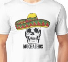 Mexican Muchachos Skull with Sombrero Unisex T-Shirt
