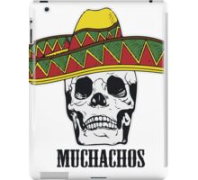 Mexican Muchachos Skull with Sombrero iPad Case/Skin